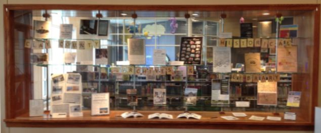 Archives display at Smithville MCPL.04-01-16 SandC